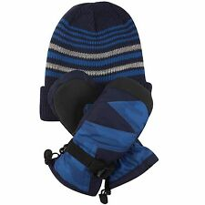 Free Country Kids' Hat and Mitten Set 3M Thinsulate Insulation Extra Warmth Navy