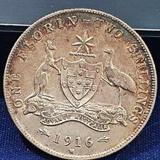 Australia - 1916 KGV Silver Florin