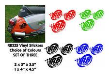 Lambretta Stickers RB225 Sticker SX GP TV LI Scooter Stickers 3 x Stickers Black