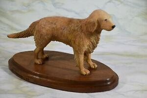 Hand Carved Artist Created Golden Retriever Signed & Dated