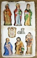 """Porcelain 8 Piece Nativity Set Up To 6.25"""" Tall Hand Painted"""