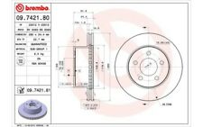 1x BREMBO Disco de freno delantero Ventilado 280mm 09.7421.81