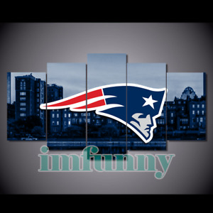 5Pcs NEW ENGLAND PATRIOTS City Canvas Picture Print Painting Wall Art Home Decor