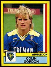 Colin GORDON Wimbledon # 388 PANINI FOOTBALL 87 ADESIVO (C217)
