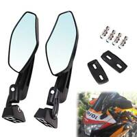 For Kawasaki Ninja 250 500 ZX6 7 9 10 Motorcycle Rearview Mirrors Black Aluminum