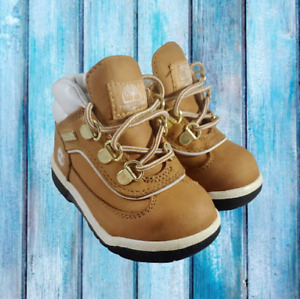 Timberland Boots Toddler Size 7 Caramel Brown with White Leather Back