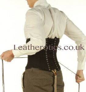 Serre taille corset pour homme en coton 1214MC