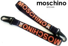 NEW  Embroidery MOSCHINO KEYCHAIN  , NOT A BEAR TOY - BLACK