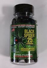 Black Spider 25 by Cloma Pharma Fat Burner Weight Loss 100 Caps Limited Quantity