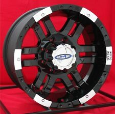 16 inch Black Wheels/Rims Chevy Dodge 2500 3500 Truck Ram 8 Lug Moto Metal 951