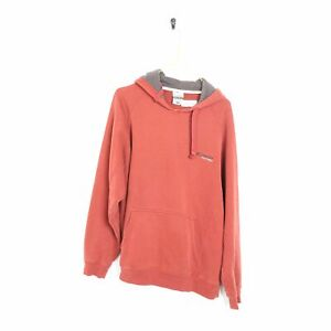 COLUMBIA Small Logo Hoodie Sweatshirt Red   Medium M