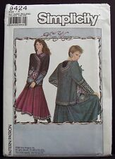 Simplicity Daisy Kingdom Quilted Jacket Sewing Pattern Quilting S,M,L 9424 OOP