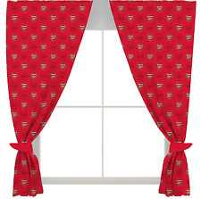 "ARSENAL FC FOOTBALL CLUB CREST 66""x72"" READY MADE CURTAINS SET BOYS BEDROOM"