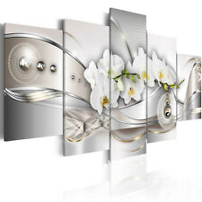 White Flower Abstract Art Picture Canvas Print Painting Wall Hanging Home Decor