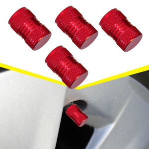 4x Red Car SUV Tire Tyre Rim Valve Wheel Air Port Cover Stem Cap Car Accessories