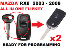 2 x MAZDA 3 RX8  Remote FLIPKEY Ready for programming Transponder Car key 41521
