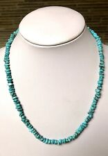Santo Domingo Turquoise Nugget Sterling Necklace