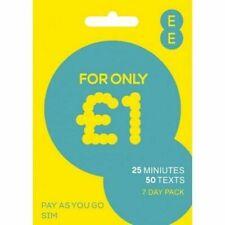 EE 4G Pay As You Go Triple CUT SIM Nano/Micro/Standard PAYG £1 Talk & Text