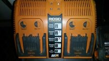 12v-18v Ridgid Rapid Max Dual Charger (working) & 2 NiCd 2.5ah batteries (dead).