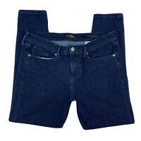 Banana Republic Women 31 Premium Denim Skinny Pants Jeans Dark Wash Blue