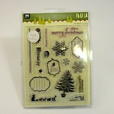 Making Memories Merry Christmas Clear Stamp Kit New Holiday Card Making Set