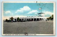 Minneapolis, MN - c1918 ROADSIDE POSTCARD - LAKE HARRIET ROOF GARDEN & OLD CARS