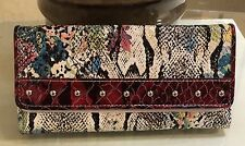 Designer Inspired Women's Gorgeous Faux Leather Snake Print Wallet Red