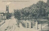 NEW BRUNSWICK NJ – Somerset Street and Rutgers College Entrance - 1907