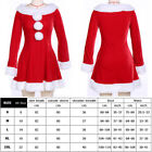 Fancy Dress Adult Women Red Christmas Outfit Xmas Mrs Claus Hooded Santa Costume