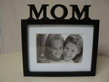 Malden MOM 4 X 6 FRAME Black Frame with White Insert Good For Mothers Day Gift