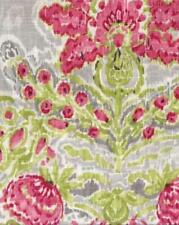 Drapery Upholstery Fabric Linen Blend Printed Abstract Floral - Rose / Gray