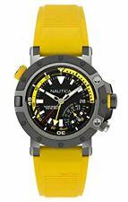 Armbanduhr Nautica Herrenuhr Analog Quarz Silikon Armband NAPPRH003 Dornschließe