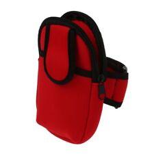 Soft MP3 Cell Mobile Phone Sport Armband Case Holder (Red) K1U4