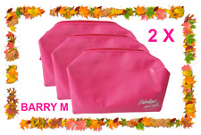 2 X NEW Fabulous Cosmetic zipped Make Up Travel Bag by BARRY M FUCHSIA PINK (TWO