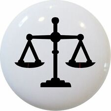 Scales of JUSTICE Cabinet Dresser DRAWER Pull KNOB