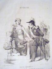 LITHOGRAPHIE DE VERNIER 19è ACTUALITES SOLUTION JACQUESSON ET CIE NAPOLEON III