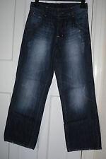 """Matalan MENS Blue Distressed Classic Fit/Straight Leg Jeans SizeW-30""""L30""""(MJ03)"""
