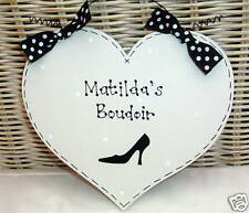 Shabby Chic PERSONALISED Boudoir French Bedroom Sign