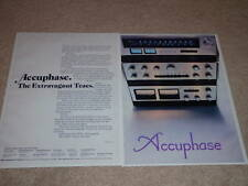 Accuphase Ad,F-300 Amp,C-200 Pre,T-100 Tuner,1974,2 pgs