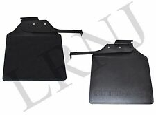 LAND ROVER DEFENDER 110 REAR MUDFLAP & BRACKET LEFT & RIGHT HAND SET OF 2