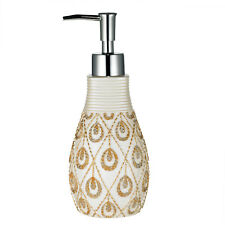 Bathroom Lotion/Soap Dispenser Beige/Gold Popular Bath Seraphina