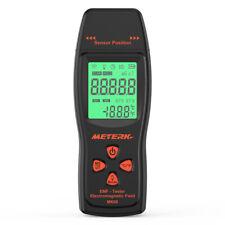 Meterk LCD EMF Meter Detector Electromagnetic Field Radiation Tester +Alarm H8P4