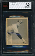 1948 BOWMAN #12 JOHNNY SAIN RC (BOSTON BRAVES) ROOKIE CARD BVG 7.5 NM+ Pop 1