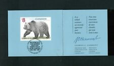 """1997  TIMBRE  CANADA STAMP GRIZZLY BEAR # 1694  """" WE APPRECIATE YOUR BUSINESS ''"""