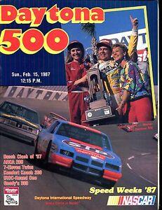 Daytona 500 1987 Geoff Bodine Racing Program EX 032817nonjhe