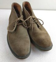 GH BASS & CO MENS Oxford Suede Chukka Ankle Boots RADLEY Taupe Leather 8.5M