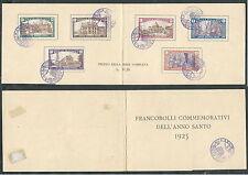 1924 REGNO USATO ANNO SANTO FOLDER ANNULLO SPECIALE - F
