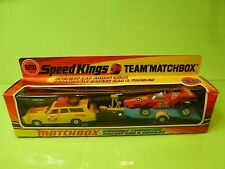 MATCHBOX K-46 K46 MERCURY COMMUTER RACING CAR & TRAILER - NEAR MINT IN BOX