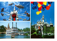 Rocket Ride-Happiest Place-Multiple Views of Disneyland Amusement Park Postcard