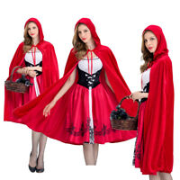 Halloween Little Red Riding Hood Party Fancy Dress Adult Women Costume US